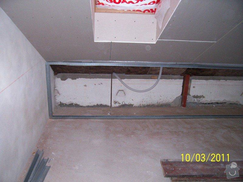 Sádrokartonářské obklady-stropy, stěny, podkroví, schody: 100_5385