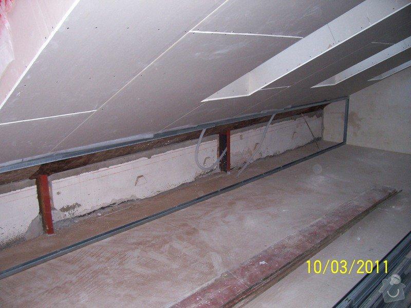 Sádrokartonářské obklady-stropy, stěny, podkroví, schody: 100_5386