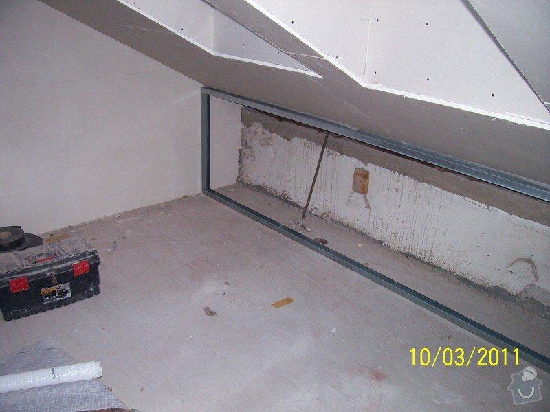Sádrokartonářské obklady-stropy, stěny, podkroví, schody: 100_5388