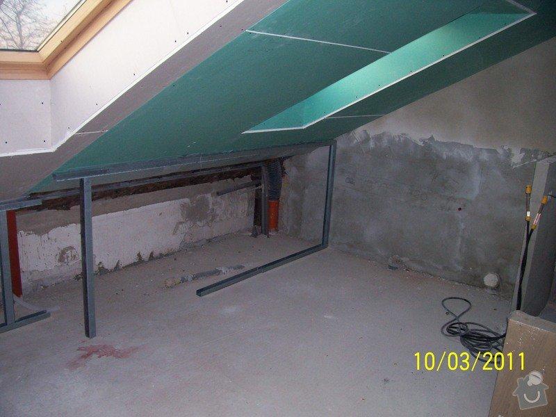Sádrokartonářské obklady-stropy, stěny, podkroví, schody: 100_5389