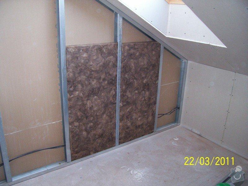 Sádrokartonářské obklady-stropy, stěny, podkroví, schody: 100_5445