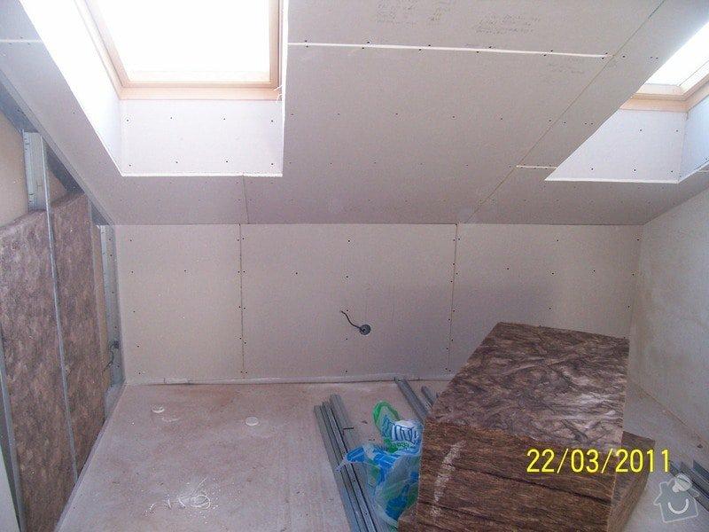 Sádrokartonářské obklady-stropy, stěny, podkroví, schody: 100_5447