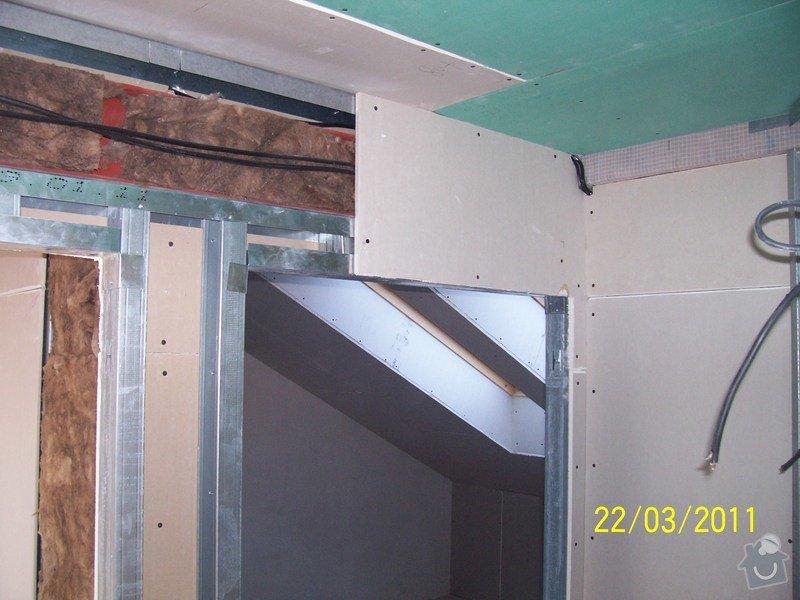 Sádrokartonářské obklady-stropy, stěny, podkroví, schody: 100_5458