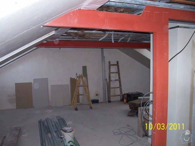 Sádrokartonářské obklady-stropy, stěny, podkroví, schody: 100_5387