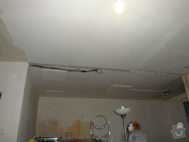 Zakrytí el. kabelů do sádrokartonu: DSC01402