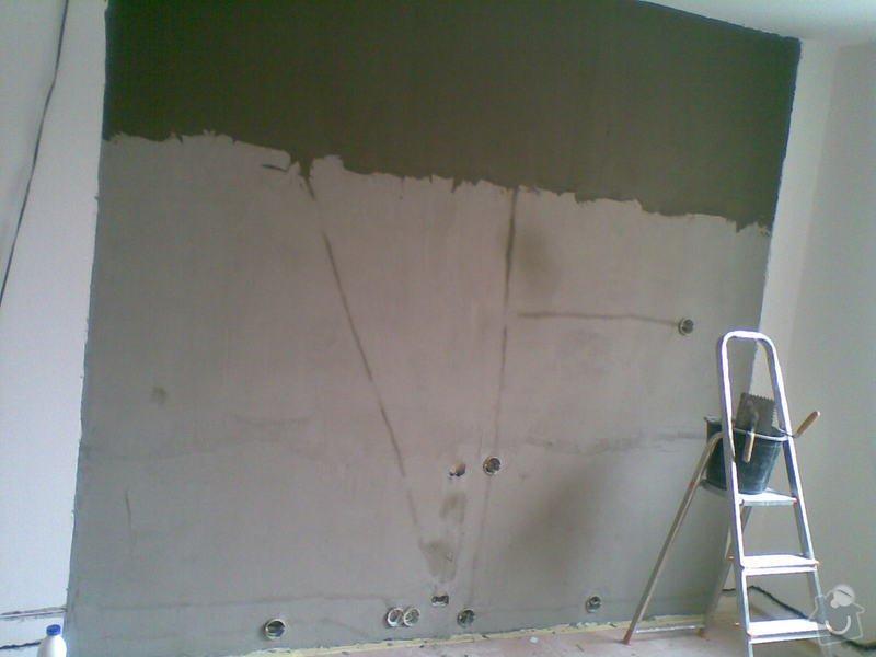 Obklad stěny za TV: priprava_steny