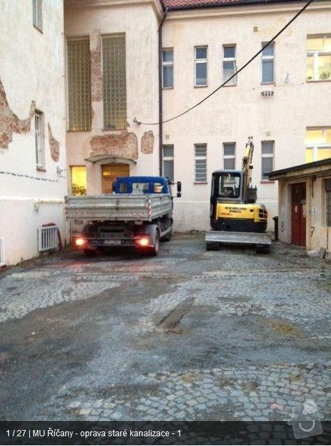 Oprava kanalizace MU Říčany: ka1