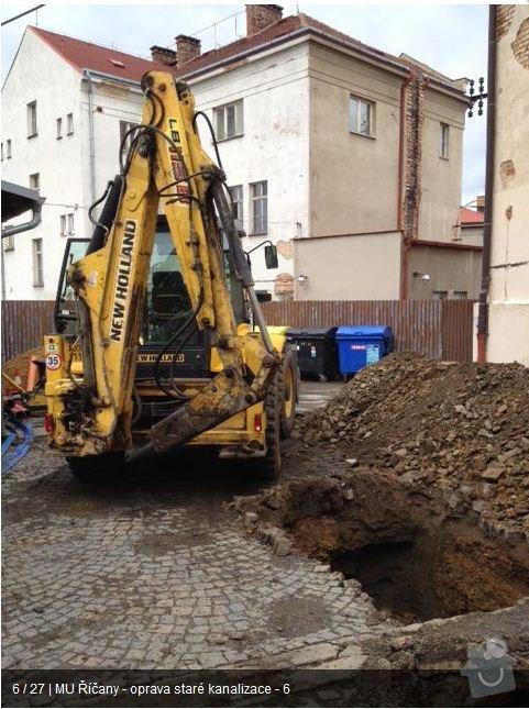Oprava kanalizace MU Říčany: ka5