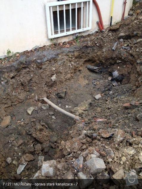 Oprava kanalizace MU Říčany: ka6