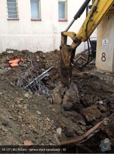 Oprava kanalizace MU Říčany: ka9