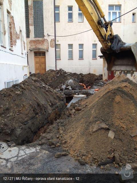Oprava kanalizace MU Říčany: ka11
