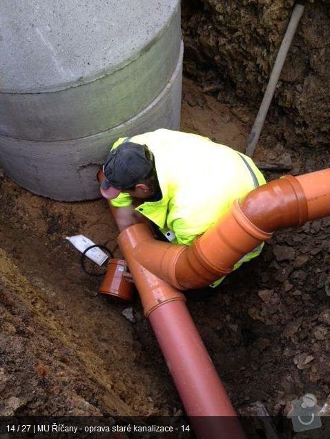 Oprava kanalizace MU Říčany: ka13