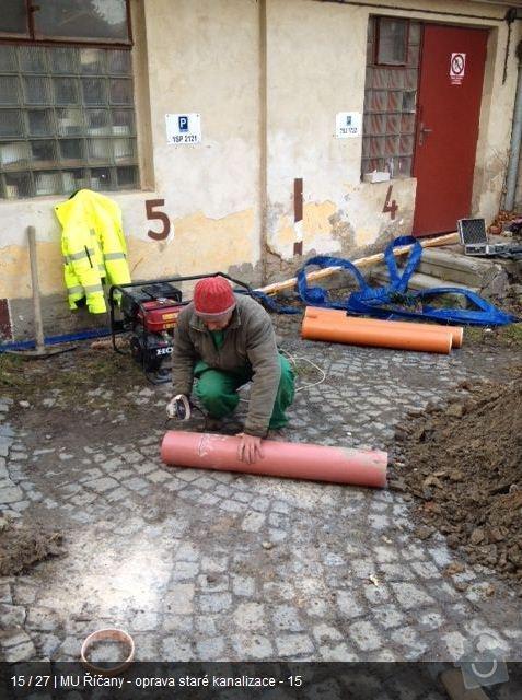 Oprava kanalizace MU Říčany: ka14