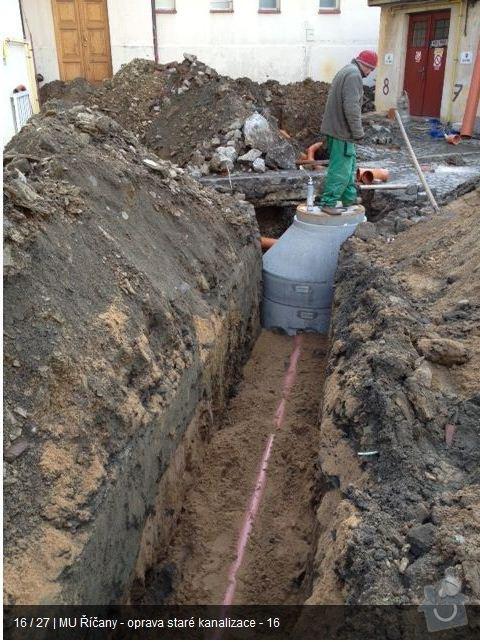 Oprava kanalizace MU Říčany: ka15