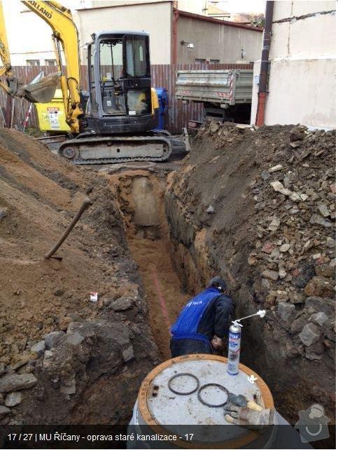 Oprava kanalizace MU Říčany: ka16