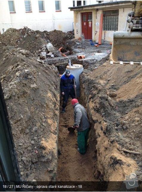 Oprava kanalizace MU Říčany: ka17
