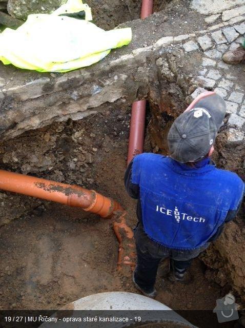 Oprava kanalizace MU Říčany: ka18