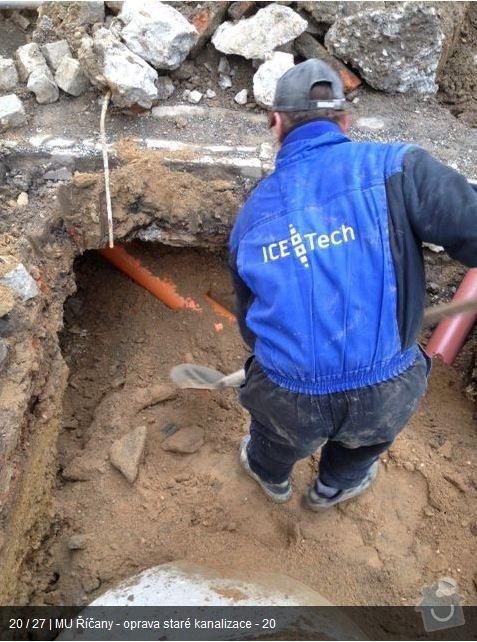 Oprava kanalizace MU Říčany: ka19