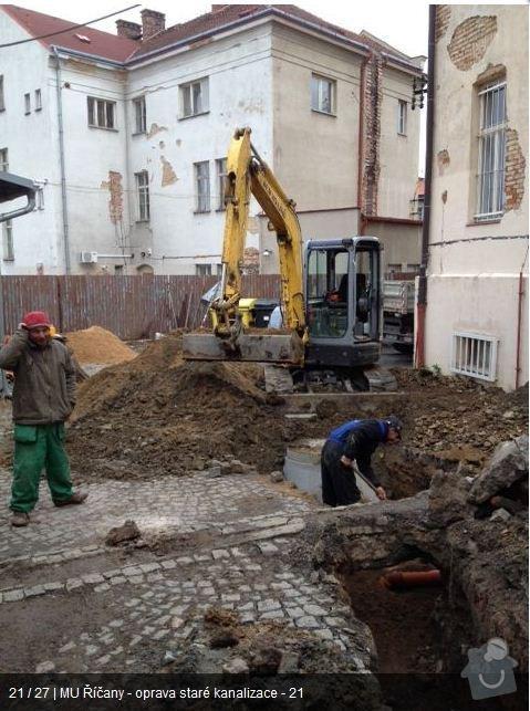 Oprava kanalizace MU Říčany: ka20