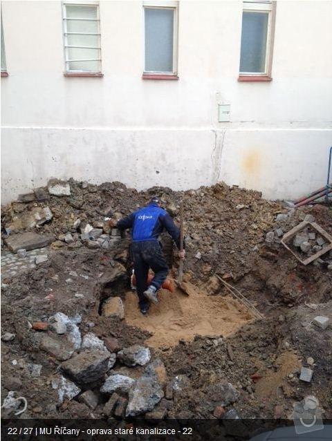 Oprava kanalizace MU Říčany: ka21