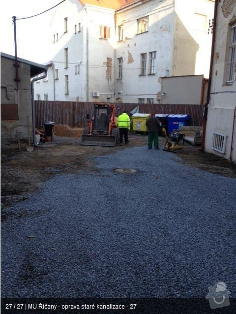 Oprava kanalizace MU Říčany: ka25