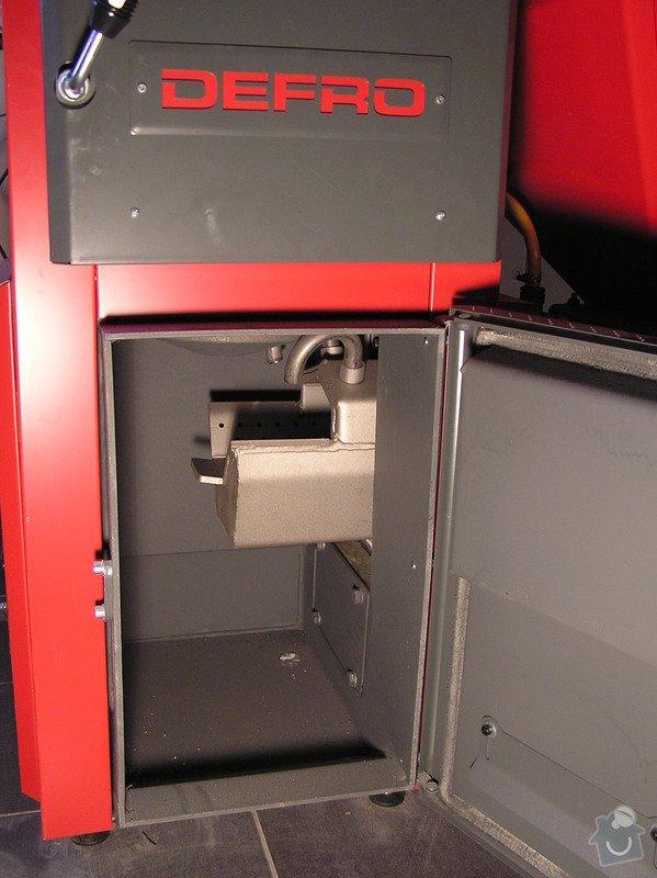 Instalace automatického kotle na tuhá paliva DEFRO AGRO Uni 15 kW v novostavbě RD: 006