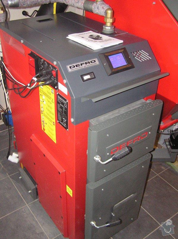 Instalace automatického kotle na tuhá paliva DEFRO AGRO Uni 15 kW v novostavbě RD: 027