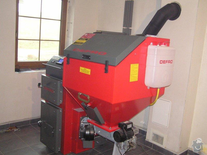 Instalace automatického kotle na tuhá paliva DEFRO AGRO Uni 15 kW v novostavbě RD: 025