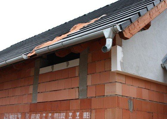 Výstavba střechy rodinného domu - novostavba
