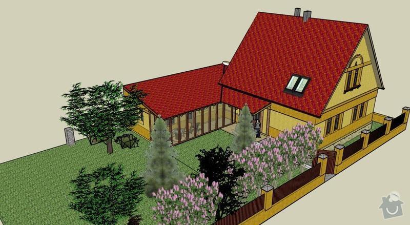 Přístavba přízemní stavby k rodinnému domku: JZ