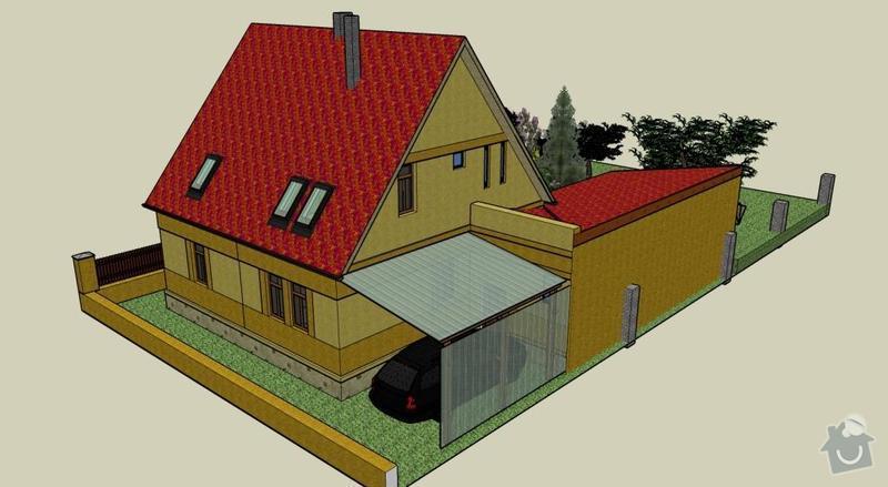 Přístavba přízemní stavby k rodinnému domku: SV