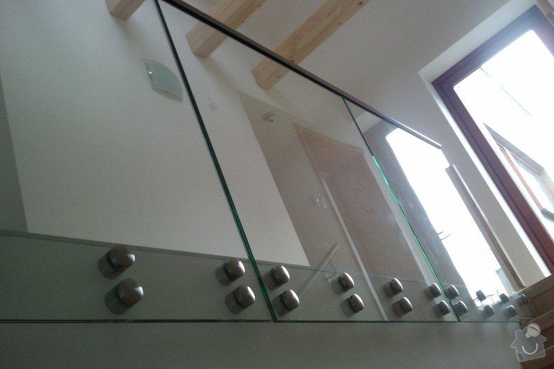 Renovace schodů,nové skleněné zábradlí: Vrane8