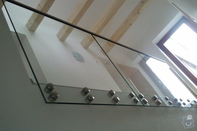 Renovace schodů,nové skleněné zábradlí: Vrane7