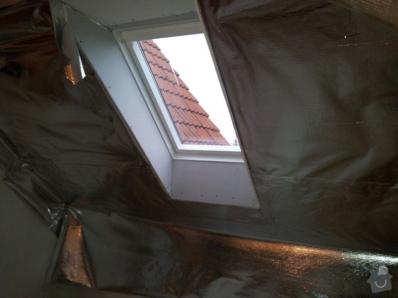 Oprava šikminy a výměna střešního okna: 20111227_145021