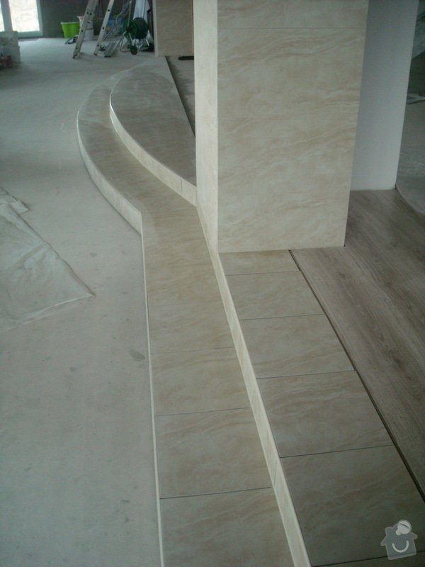 Položení dlažby - schod: snimek_011