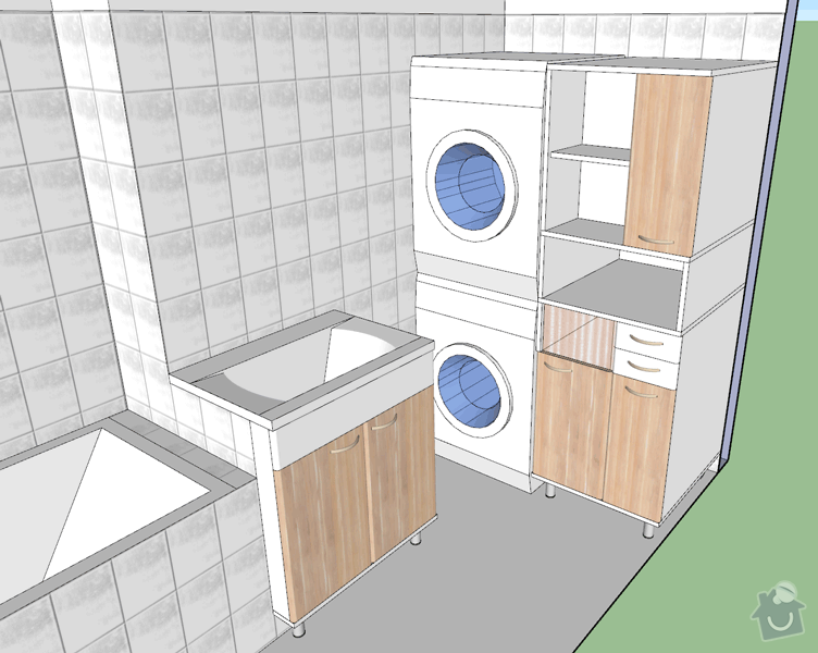 Výroba nábytku do koupelny: koupelna