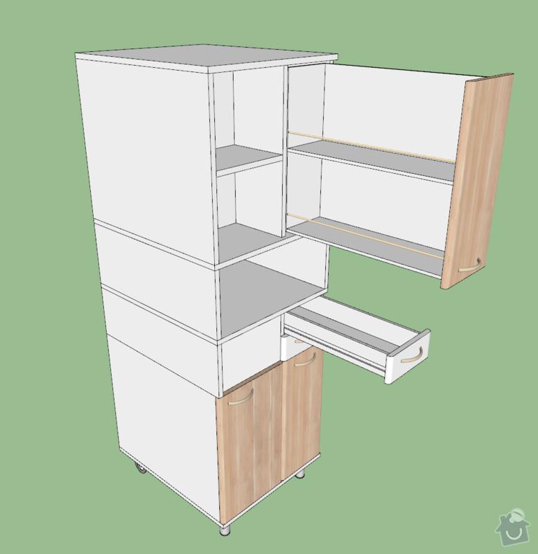 Výroba nábytku do koupelny: koupelnova-skrinka