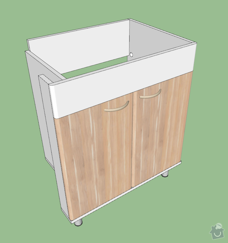 Výroba nábytku do koupelny: umyvadlova-skrinka