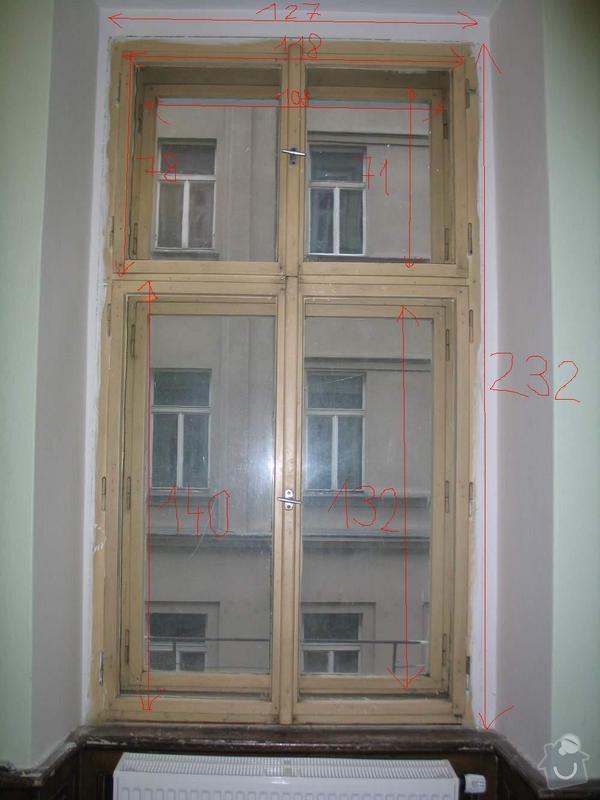Dřevěná okna kastlová + klasická: Okno1_2_rozmery