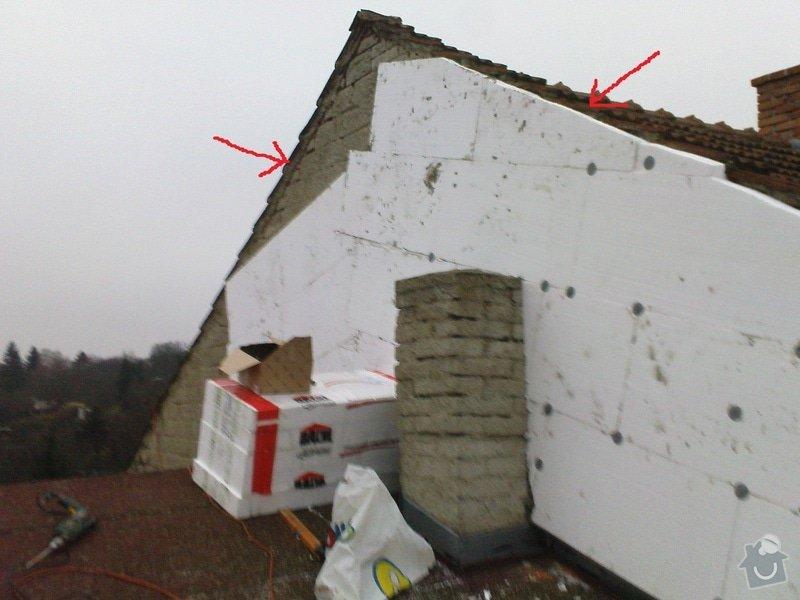 Klempířské práce - oplechování štítu domu: strecha