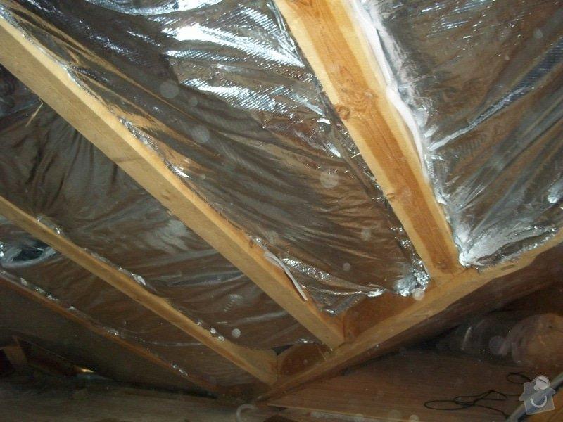 Zateplení střechy rodinného domu: 100_0702