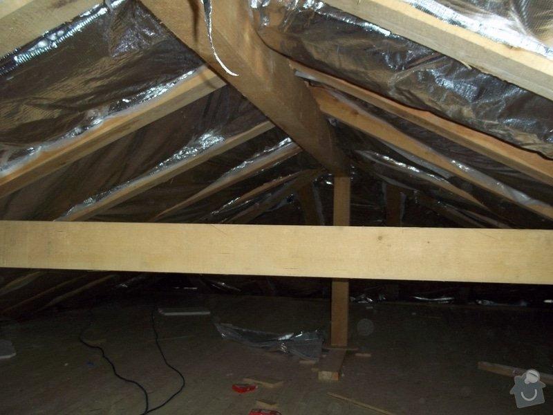 Zateplení střechy rodinného domu: 100_0704