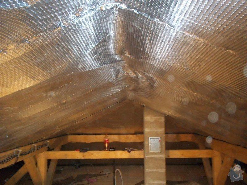 Zateplení střechy rodinného domu: 100_0709