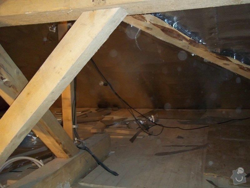 Zateplení střechy rodinného domu: 100_0711