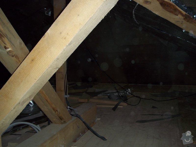 Zateplení střechy rodinného domu: 100_0712
