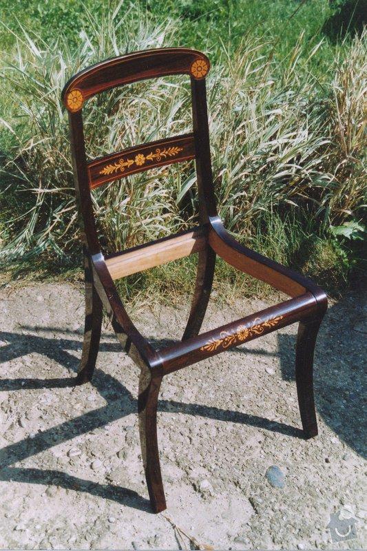Restaurování  6ks židlí: IMG