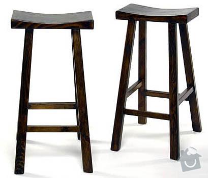 Dřevěné barové židle na míru: wooden-bar-stools-3
