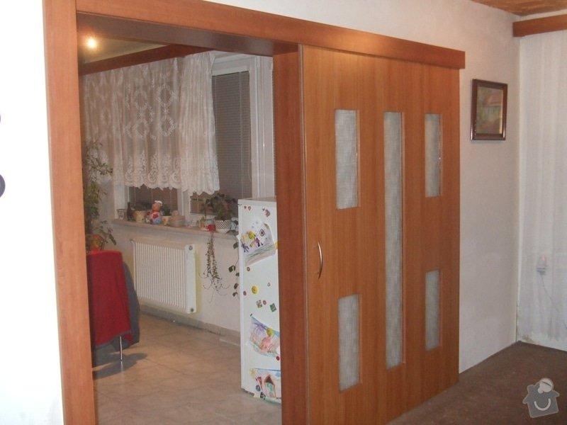 Posuvné dveře + obložka: DSCF2692