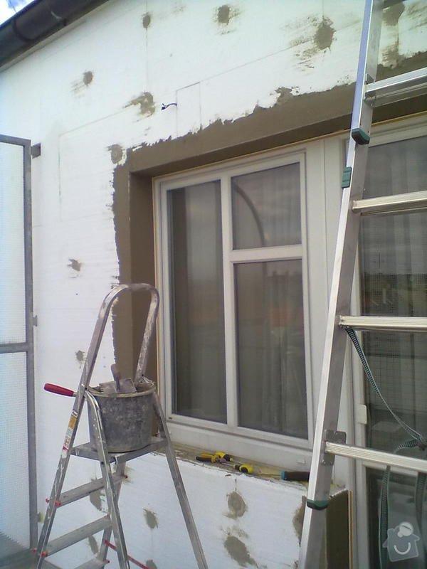 Zeteplení části domu + Instalace okenních parapetů a nátěr omítky: 15092011163