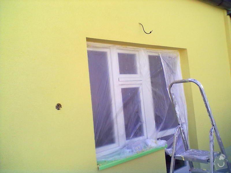 Zeteplení části domu + Instalace okenních parapetů a nátěr omítky: 21102011188